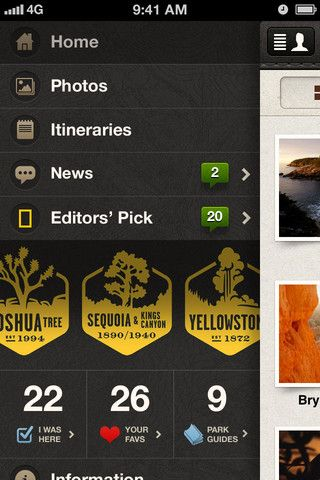 National Parks app by National Geographic: Ui Design, Mobile Ui, National Geographic, Geographic Ui For Iphone Apps, App Ui, National Parks, Interface, Parks App, Ui Ux