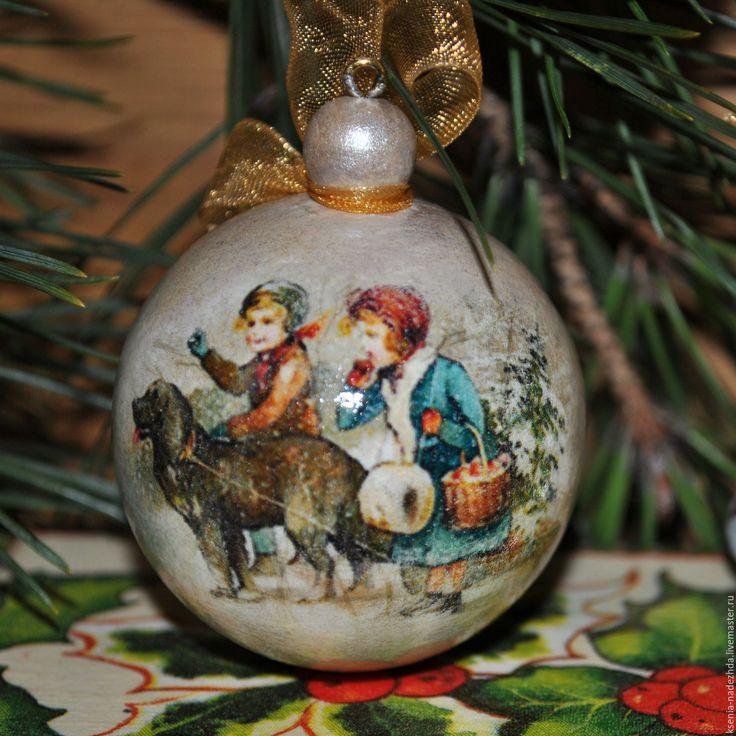 """Купить Елочные игрушки, набор """"Рождество"""" - новогодний подарок, новогодние игрушки, елочные украшения"""