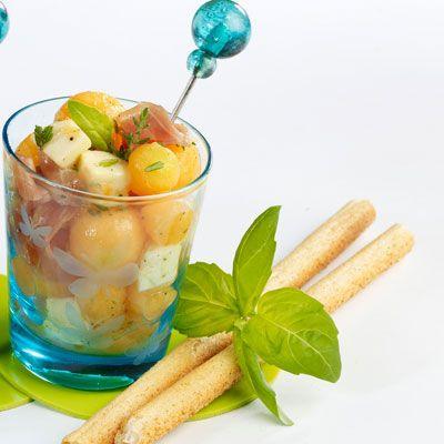 Découvrez la recette Verrines italiennes sur cuisineactuelle.fr.