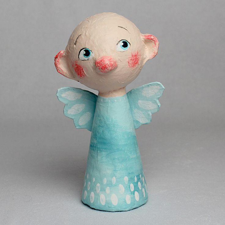 Gabriel, Little Angel, OOAK Paper Mache Art Doll by CharlotteEngelStudio on Etsy
