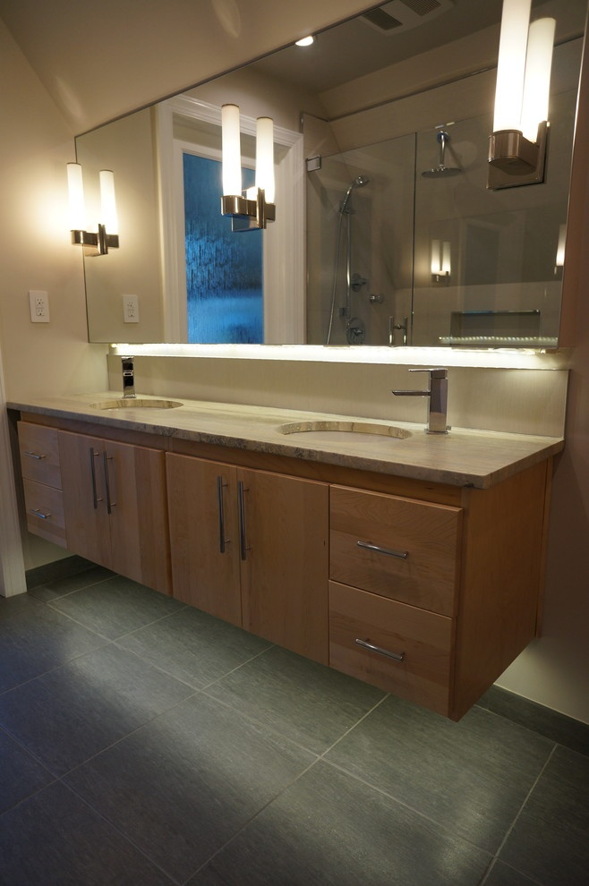 Photos Of Lighting idea also like floating vanity but with trough sink