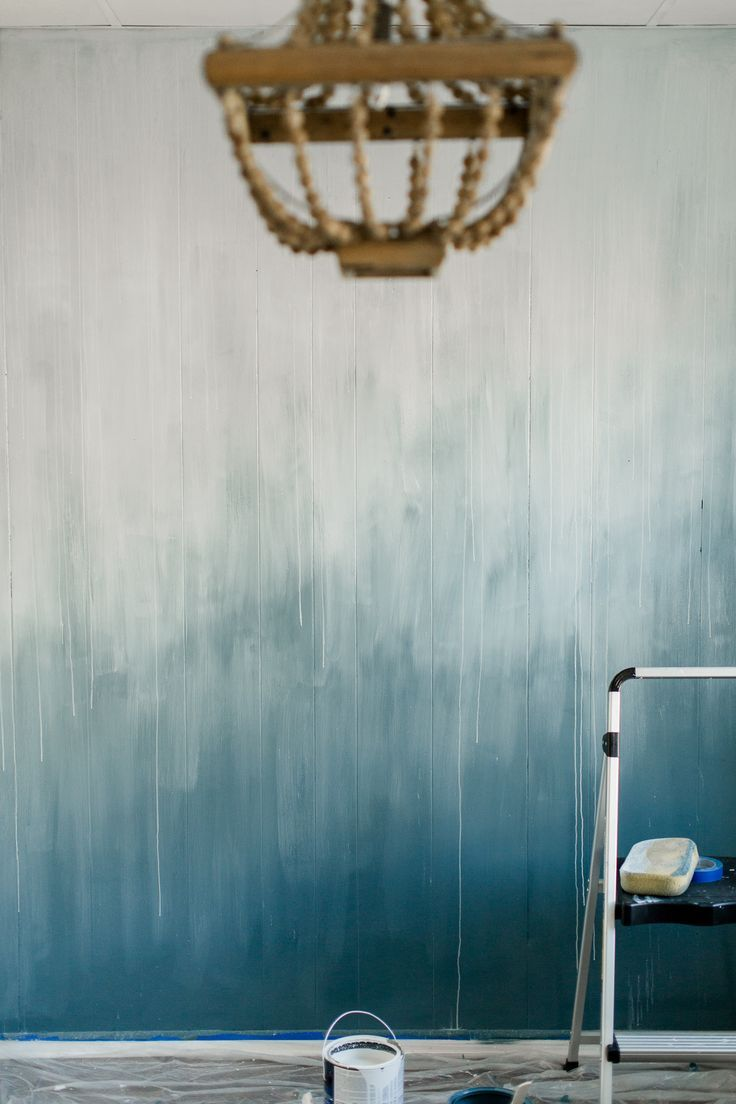 Dry Brushed Wall Transformation Diy Ombre Wall Ombre Wall Ombre Painted Walls