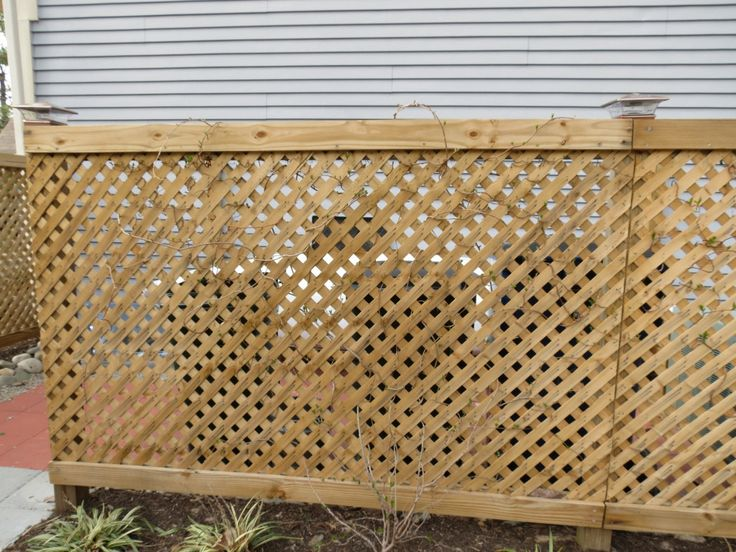 Lattice Around Garbage Cans And Ac Unit Summer Camp