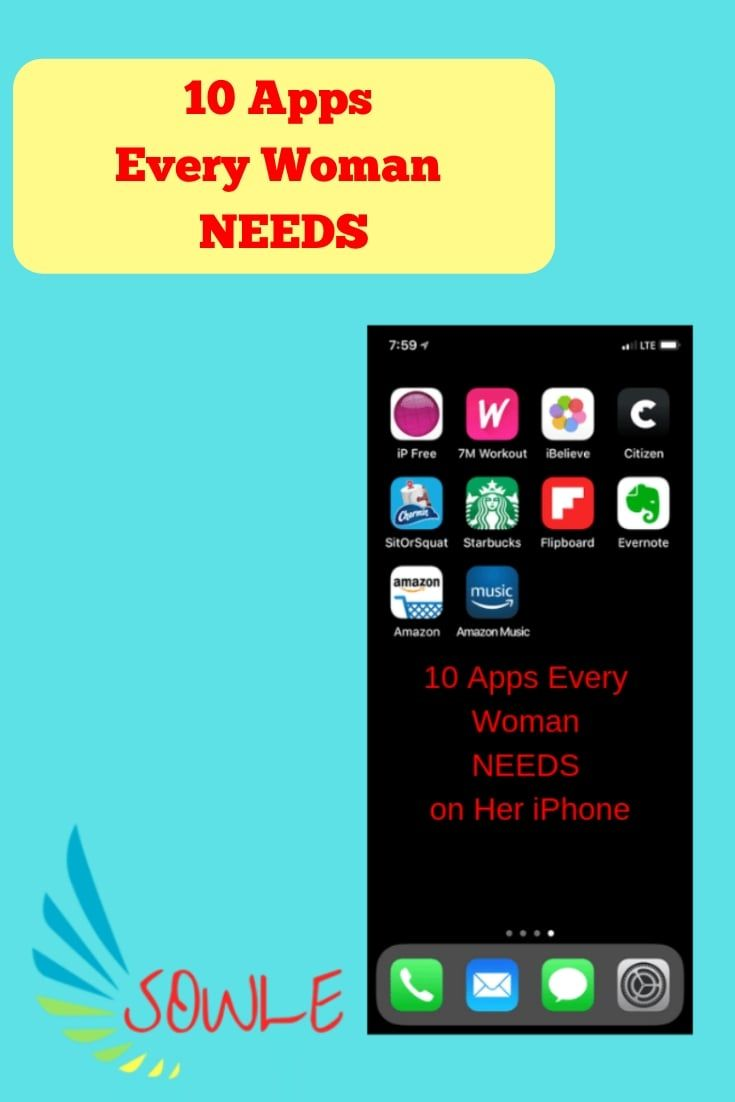 10 Apps Every Woman NEEDS   SOWLE: Woman's Nook and Man's