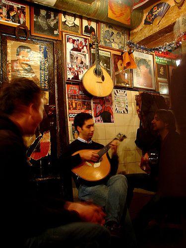 Singing the Fado in a bistro - Tasca do Chico (Lisbon Portugal)