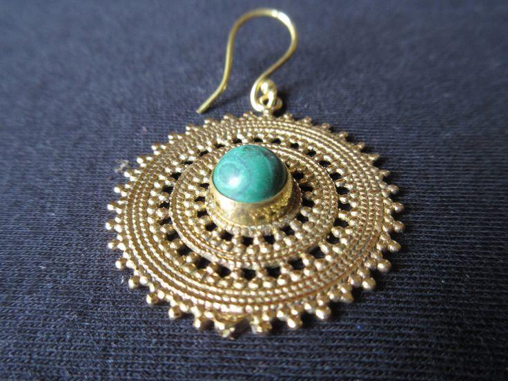 Earrings with Stone di JekoStore su Etsy