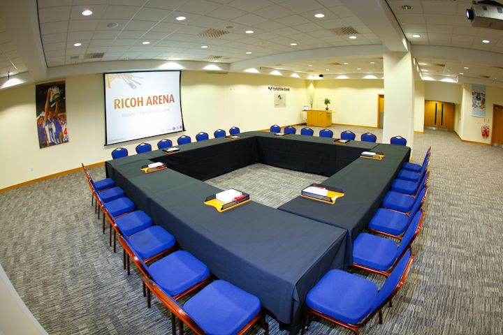 Yorkshire Bank Lounge - Boardroom style - Contains a highly flexible set of functions rooms and sub-divides to create areas that can be used for breakout sessions, meetings, exhibitions or refreshments.