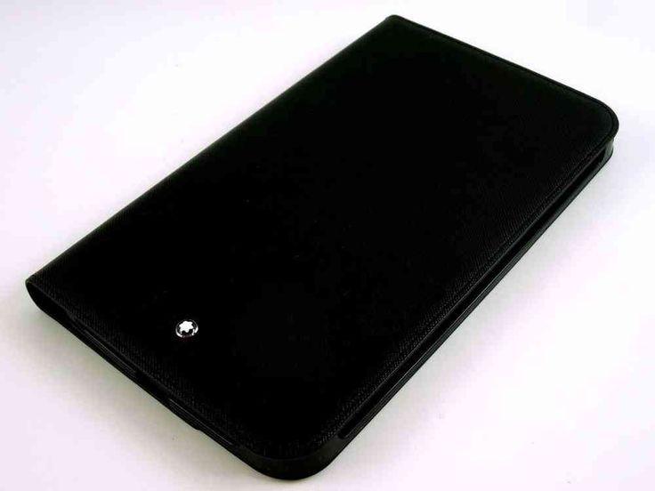 Montblanc Meisterstuck Selection Tablet Computer Case - Black leather - 111508 - MarteModena