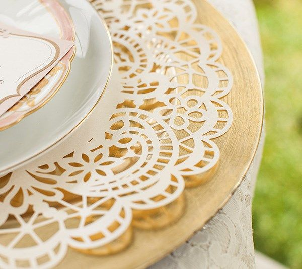 Lace Plate Chargers