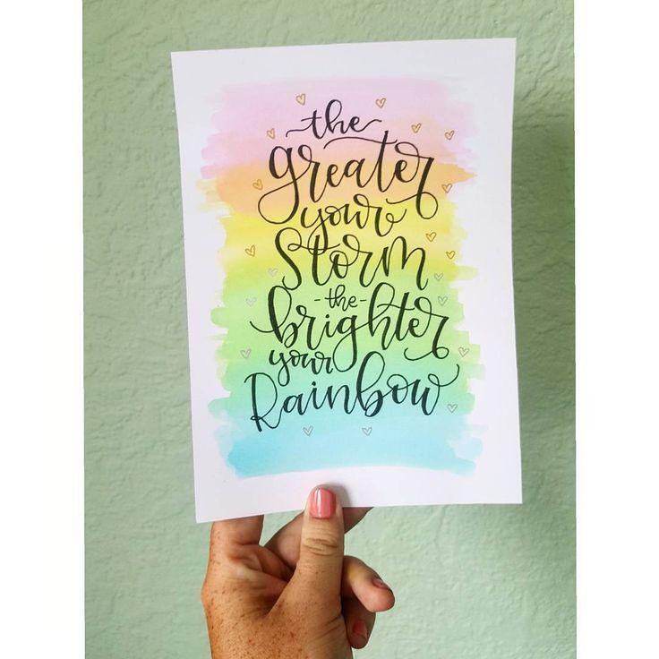 Rainbow Hand Lettering Hand Lettering Art Hand Lettering