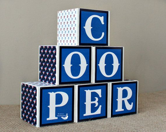 These 3x3 baby wood blocks can be used to spell out your child's name and comes personalized for