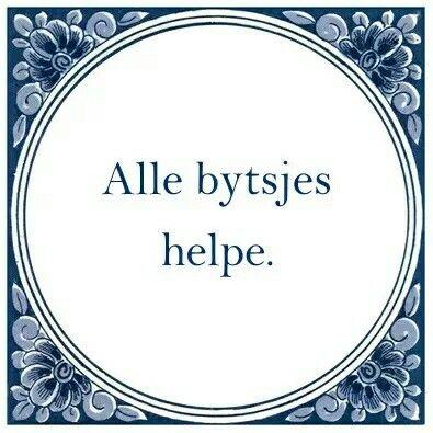"""""""Frysk"""" (NL: Alle kleine beetjes helpen)"""