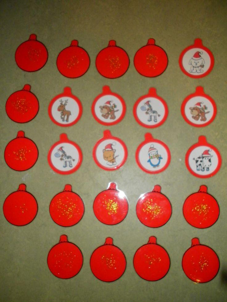 Memorie in de vorm van kerstballen