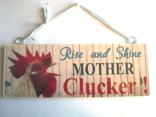 Funny Cockerel Rooster Plaque Sign Chicken Hen Cock House Coop Egg Garden Gift | eBay