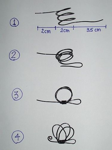 how-to make a butterfly out of wire
