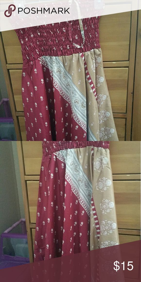 Silk cover up. Can be worn with or without straps. 100% silk. Never worn. Bought from Earthbound trading company. Other