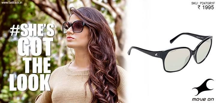 With the sunglasses on, she knows #ShesGotTheLook  #Fastrack #Oversized #Sunglasses #Fashion