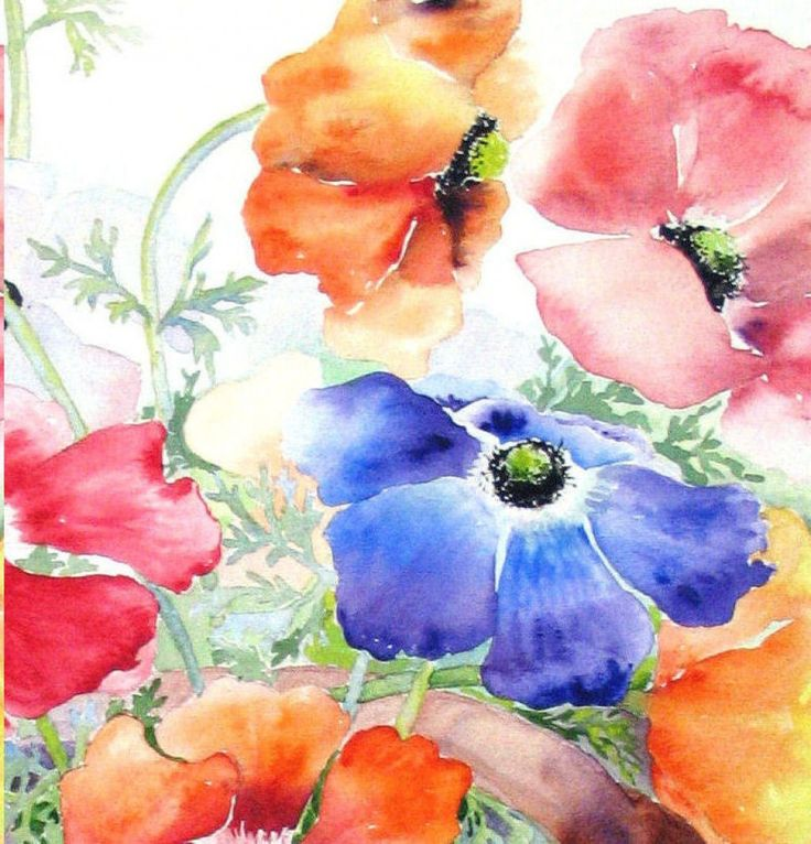 DON'T BE AFRAID TO PAINT WITH WATERCOLORS Try this exercize.  Pinner says:  In this article I'm going to give you an exercize that if you have never painted with water colors, will give you confidence to forge on, so stay with me...