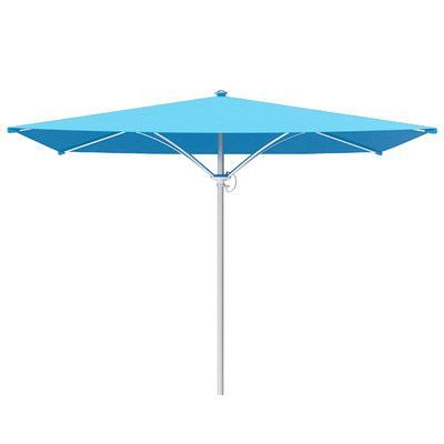Tropitone Trace 6' Square Market Umbrella Fabric: Sparkling Water, Frame Finish: Parchment