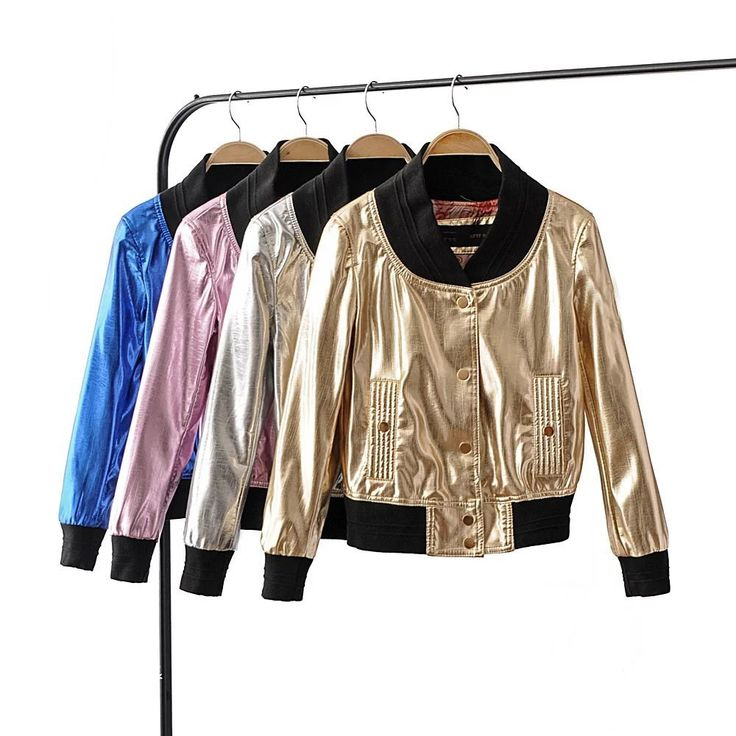 >> Click to Buy << 2017 female leather jacket metallic silver short coat fashion new slim women jackets coats autumn winter clothing casual coats #Affiliate