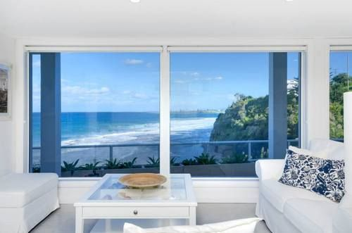 Downstairs lounge with beach view