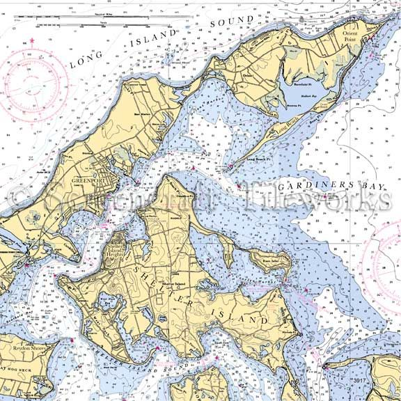 Marine Map Shelter Island Ny