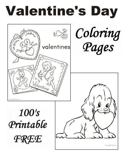 15 best images about Valentines Day for Kids – Colorable Valentines Day Cards