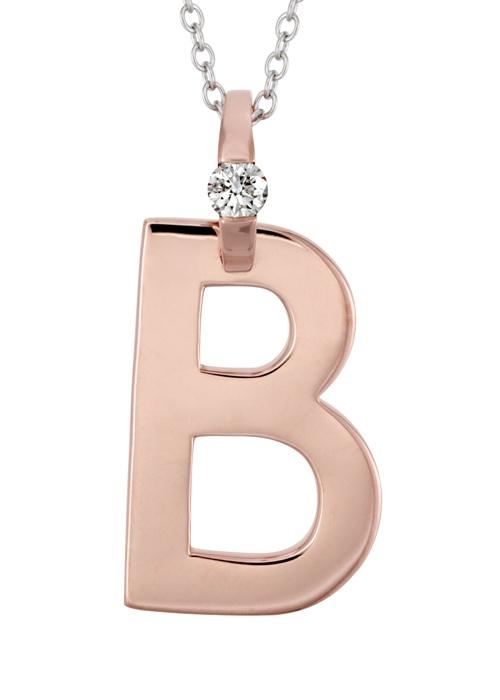 The Letter B: Small Diamond Initial Pendant #diamonds | heartsonfire.com
