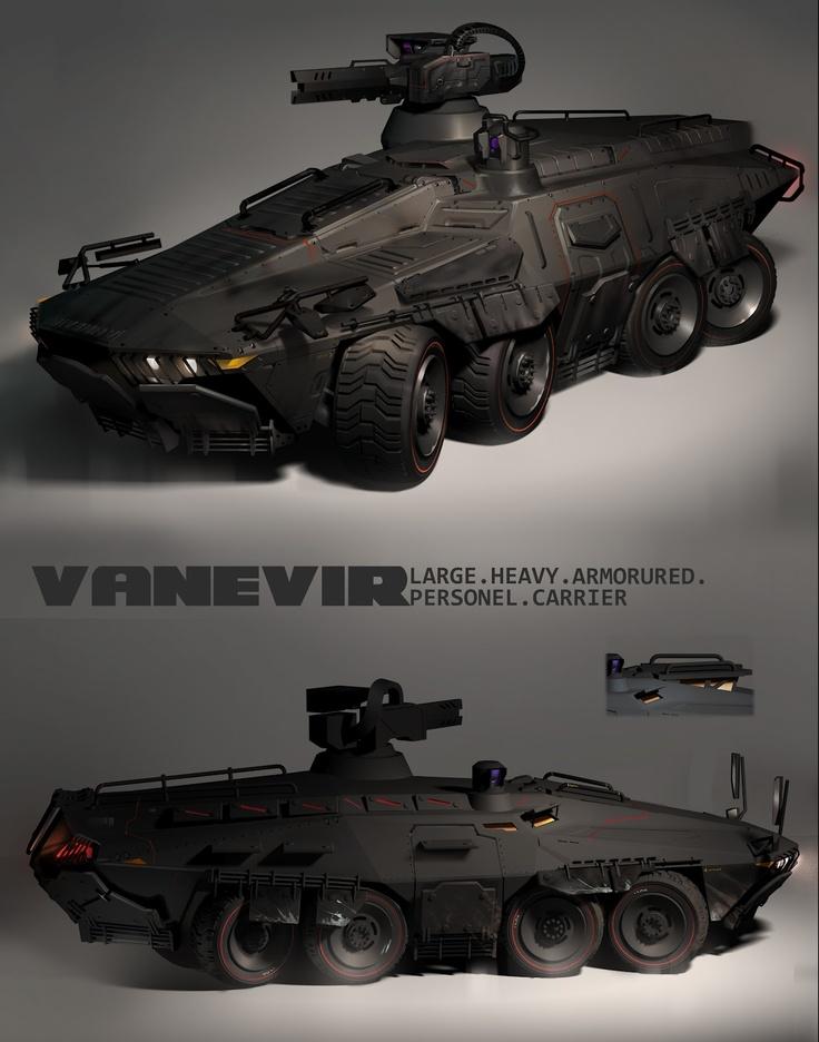 The Vanevir L-APC heavy transport by Johan Friis