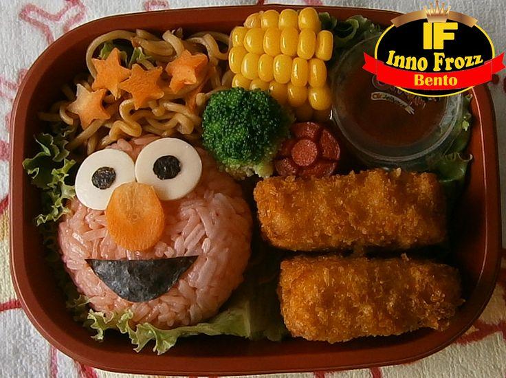 Elmo onigiri bento