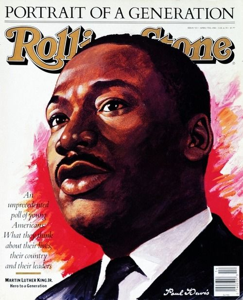 Rolling Stone April 1988: Art Paintings, Martin Luther King, April 1988