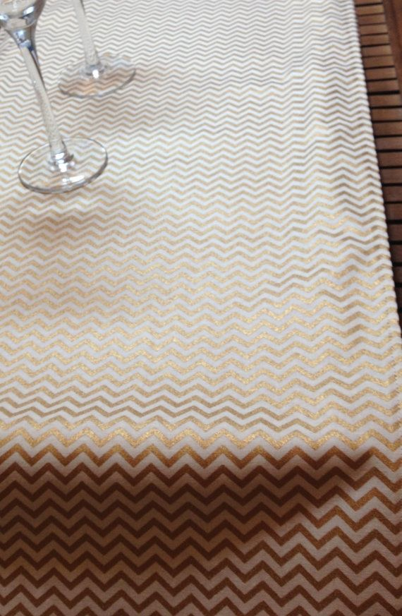 Gold table runners MINI Gold Metallic and Cream by BlessedinLove
