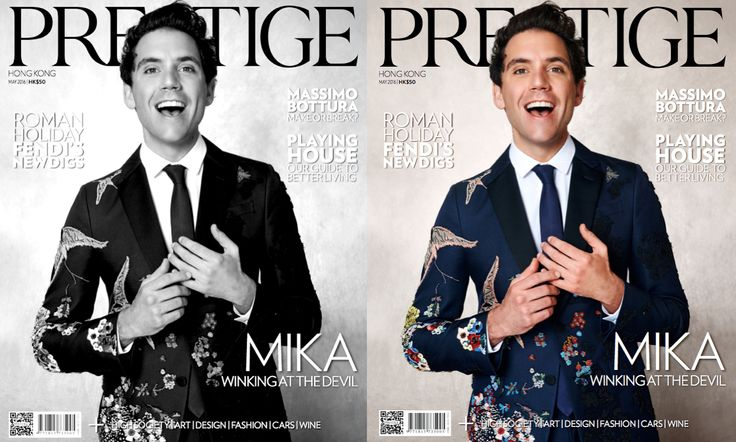 Fast Management's Raul Docasar shoots the multi talented and incredibly grounded MIKA for the cover of the May issue of Hong Kong's Prestige Magazine.