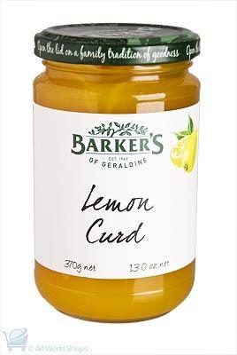 New Zealand Lemon Curd - Barkers - 370g | Shop New Zealand
