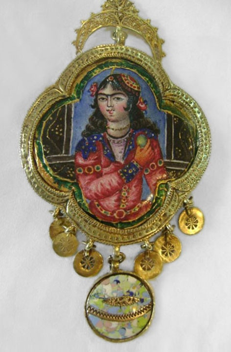 Qajar (Iranian dynasty from1794 to 1925AD) painted enamel