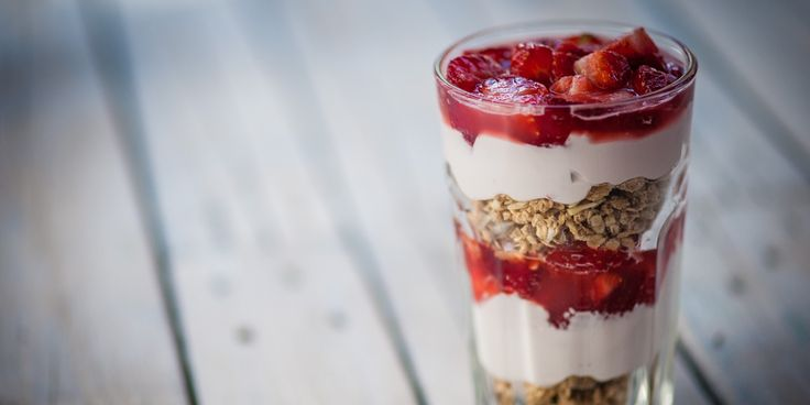 This strawberry sundae recipe makes a fantastic treat, using yoghurt and granola to create a quick and easy breakfast to get out of bed for. Feel free to experiment with other seasonal berries and fruits.