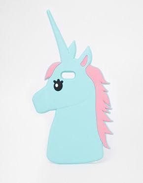 Agrandir ASOS - Coque pour iPhone 5 en caoutchouc souple à motif licorne