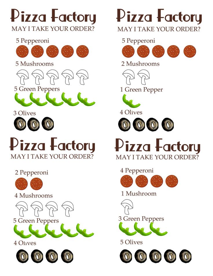 Printable Pizza Toppings Bigger
