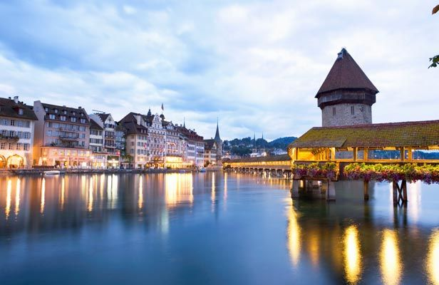 LucerneSpaces, Favorite Places, Favorite Cities, Beautiful Places, Future Travel, Lakes Lucerne, Lucerne Switzerland, Visit, Covers Bridges