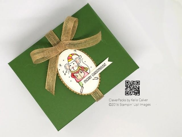 """""""6"""" Sleeps Till Christmas - Large Gift Box with Stampin' Up! Merry Mice"""