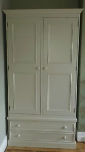 farrow and ball painted pine 2 door double wardrobe with drawers/made to measure in Home, Furniture & DIY, Furniture, Wardrobes   eBay