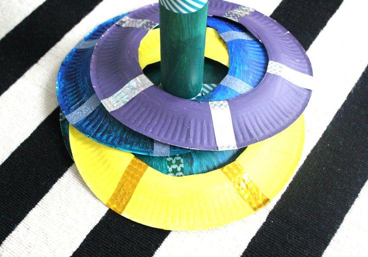 Kids, DIY, lustiges Tellerwerfen, Wurfspiel selbstgemacht, Basteln mit Papptellern, Basteln mit Kindern, Spielen mit Papptellern, Indoor, Schlechtwetterprogramm via lifestylemommy.de