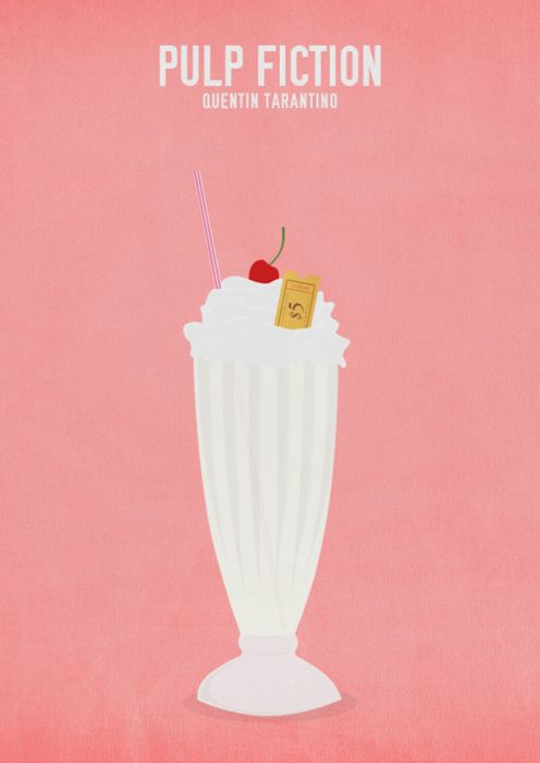 pulp fiction: Quentin Tarantino, Minimalist Movie Posters, Pulpfiction, Film Music Books, Film Posters, Pulp Fiction, Cinema Posters, Minimal Movie Posters, Milkshakes