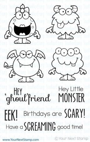 Your Next Stamp SILLY MONSTERS TWO Clear Stamp CYNS126 zoom image