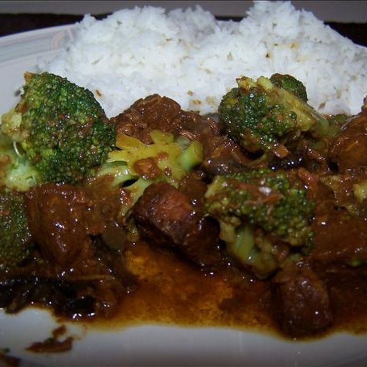 Crock Pot Beef and Broccoli 11/2 lbs round steak (boneless, cubed) 41/2 ozs sliced mushrooms (drained) 1/2 cup onion (chopped) 1/2 cup beef broth 3 tbsps teriyaki sauce 2 cups broccoli florets (frozen) 1 tbsp cornstarch 2 tbsps water