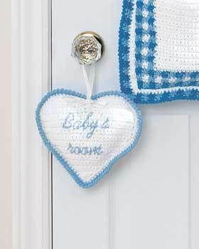 Heart Baby Room Sign Crochet Pattern | FaveCrafts.com