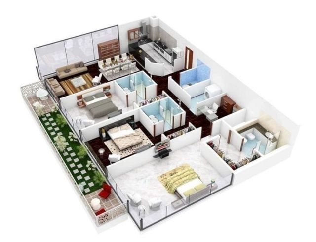 Amazing 3d Floor Plans For You Engineering Basic In 2020 2 Bedroom House Plans House Design Pictures Home Map Design