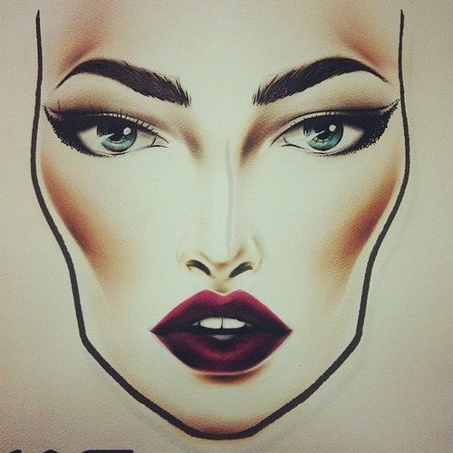 Heavy contour, dark purple lips, bold brows and a cat eye... exactly my style