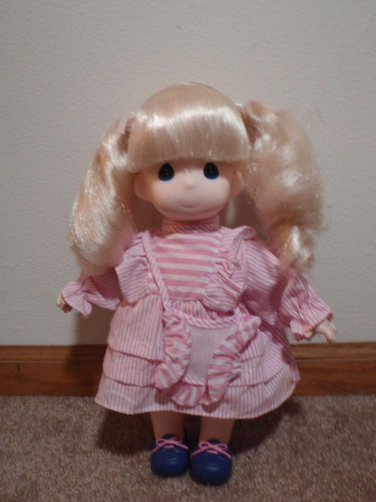 1996 Precious Moments Doll Collection Cindy Blonde Doll With Pigtails 1441 | eBay
