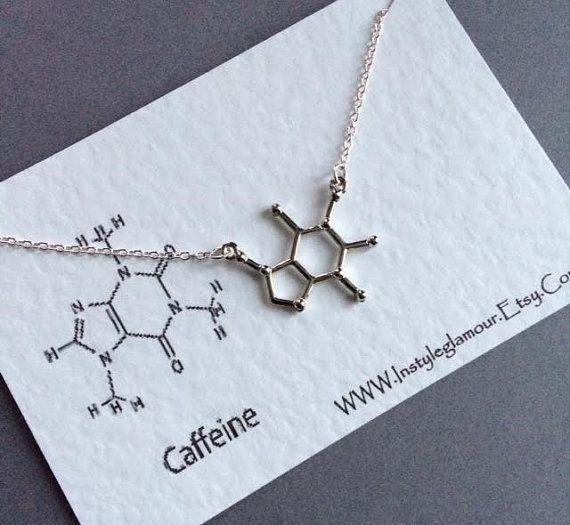 Caffeine Bracelet Molecule Bracelet Chemistry by Instyleglamour